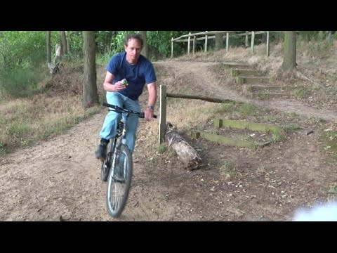 Solving a Rubiks Cube while riding single track...