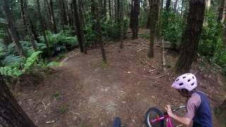 10 year old Erice shredding on her 16″ wheel bike!