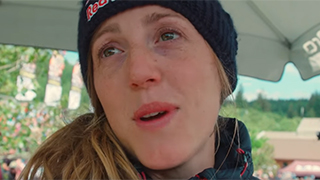 Watch Rachel Atherton popping her shoulder back in