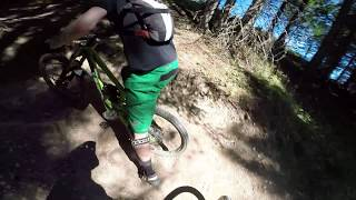 Massive faceplant on AirDH track in Les Gets