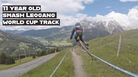 11 year old smashes the Leogang World Cup track