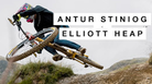 Elliott Heap styles down Antur Stiniog Bike Park on his Trail Bike