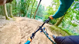 Riding the new GBU Downhill trail at the Forest of Dean