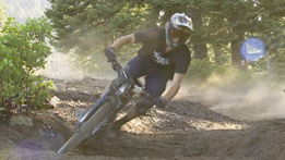 Trail Supervisor, Caleb, rides Mount Shasta Bike Park Trails