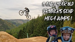 11 and 8 year old shred huge jumps at Bikepark Ferme Libert!