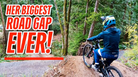 Miranda Miller - Her Biggest Road Gap Ever!