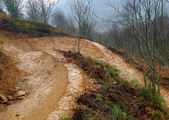 New Blue Trail under construction at Cwmcarn Forest