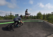 New all-weather cycling tracks at Sutton Bank in the North York Moors National Park