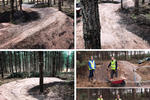 "The local trail building group TIMBER have been busy improving the drainage and the berms on the ""39 Steps"", a downhill section on the red graded trail at Thetford Forest."