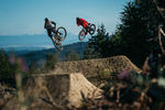 Blue Steel is a new jump trail on Galbraith Mountain in Bellingham, WA.