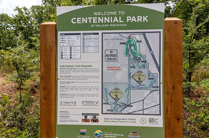 Centennial Park Mountain Biking Trails