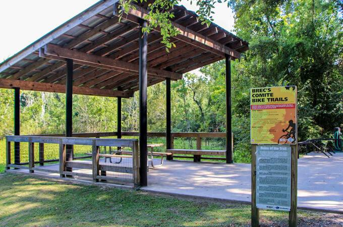 Comite River Park Mountain Biking Trails -